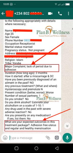 Plan B Wellness testimony for adhesion