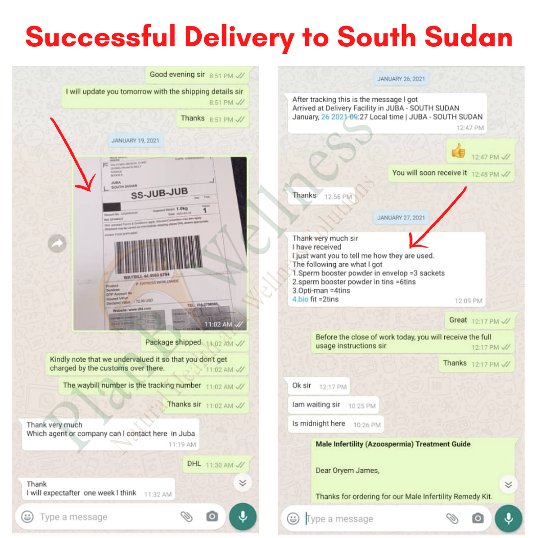Successful Delivery to South Sudan Plan B Wellness